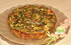 DROB DE CIUPERCI PLEUROTUS Quiche, Stuffed Mushrooms, Muffin, Veggies, Food And Drink, Cooking Recipes, Breakfast, Easter, Party