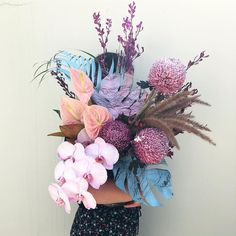 For the babes at this week 🦄 Dried Flower Bouquet, Flower Bouquet Wedding, Dried Flowers, Floral Wedding, Sunflower Wedding Centerpieces, Flower Decorations, Flower Designs, Flower Art, Floral Arrangements