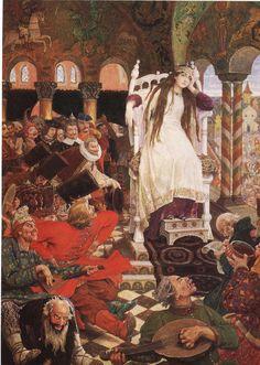 Viktor Vasnetsov, The princess who never smiled, 1914-1916