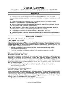Sample Carpenter Resume Prepossessing Resume Examples Bartender #bartender #examples #resume .