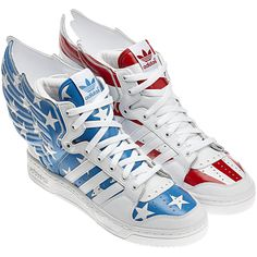 Adidas Jeremy Scott Wings - Capt. America shoes