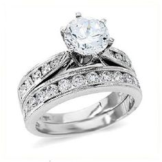 Gregorio 18K White Gold Diamond Engagement Ring  Band (1 cttw, G-H color, VS-SI clarity)  Price : $4,700.00 http://www.blountjewels.com/Gregorio-White-Diamond-Engagement-clarity/dp/B0099UORUQ