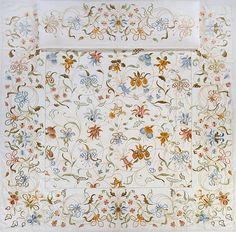 Fabulous Antique Pair Nubby Linen Towels L Monogram Heraldic Theme Fleur de Lis