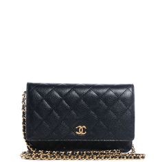 Fashionphile - CHANEL Caviar Quilted Wallet on Chain WOC Black