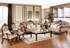 Traditional 3 Piece Living Room Set