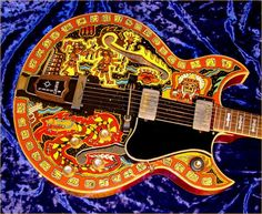 Gibson Barney kessel model owned & painted by April Lawton of Ramatan