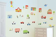 Jolly Town Transportation Car & Truck Wall Decals