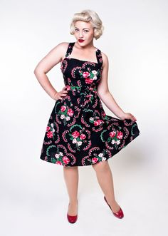 Lauren Dress - Doilie Black - Heart of Haute  - 1