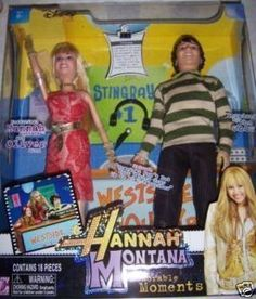 This Hannah Montana Doll Set features Hannah & Oliver Oken  Grandma's in town for Miley's royal performance in Jackson's Game but there is a little sibing rivalry over Mamaw's attention  Includes:  Hannah with fashion  Oliver with fashio  2 pairs of shoes  pair of earrings  necklace  head phones  Hair Brush  microphone  For ages 6+  New in box