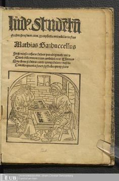5 [1r] - Ausst. 252 - Lud[us] stude[n]tu[m] Friburgensium cum Prophetia mirabilis in fine - Page - Inkunabeln und Postinkunabeln - Digitale Sammlungen