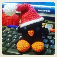 #little_black_chicken #christmas #amigurumi #crochet