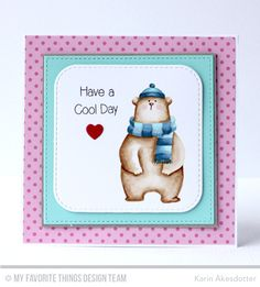 Cool Day Card by Karin Åkesdotter featuring the Birdie Brown Cool Day stamp set, and the Candy Jars, Inside & Out Stitched Rounded Square STA, and Stitched Square STAX Die-namics #mftstamps