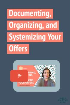 Since offers are what makes your business, well, a business. It makes sense when getting your business operations more organized and standardized to start with your OFFERS. In this video, I'll share a few key things to document about your offers + show you a walkthrough of how I've documented one of my offers in my project management tool of choice, Trello. Time Management Tips, Event Management, Project Management, Business Planning, Business Tips, Online Business, Sales And Marketing, Content Marketing, Planner Tips