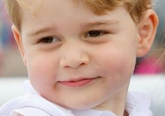 ONE DAY THIS CHILD WILL BECOME A KING OF ENGLAND.......HIS NAME IS --- GEORGE ---..........ccp