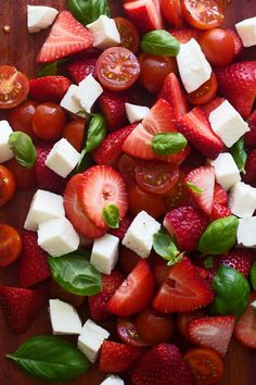 Strawberry Caprese Salad with Brown Butter Balsamic Vinaigrette