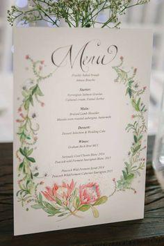 protea wedding menu More