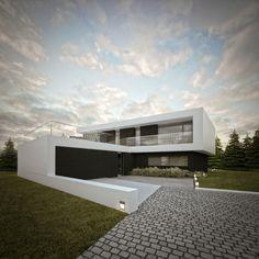 Dom w Radomierzycach / House in Radomierzyce by S3NS Architektura - Igor Kazmierczak, via Behance