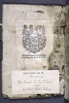 Bookplate of Christophorus Baro, 1594.