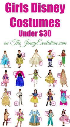 Girls Disney Costumes Under $30 | The Jenny Evolution