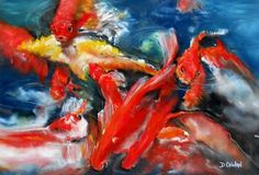 Pond Play by Diana Coidan - Pastel