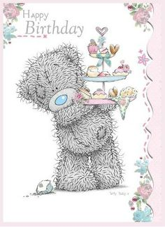 Tatty Teddy Holding Cakes Birthday Me to You Bear Card . Birthday Greetings Quotes, Happy Birthday Quotes, Birthday Messages, Happy Birthday Wishes, Bear Birthday, Birthday Month, Tatty Teddy, Teddy Bear Pictures, Blue Nose Friends