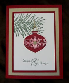 Stampin Up Christmas Cards | Stampin' Up! Christmas card | Card Making