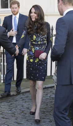 The Duchess looked in great spirits as she arrived at a briefing to announceplans for Heads Together ahead of the 2017 Virgin Money London Marathon