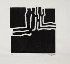 Incisione su legno - Eduardo Chillida - Beltza
