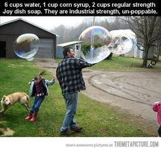 How to make the strongest bubbles ever…
