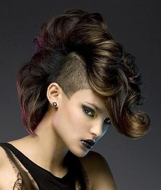 Rise above the crowd with this gorgeous undercut medium hairstyle ...