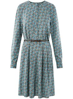 oodji Collection Women's Belted Viscose Dress: Amazon.co.uk: Clothing Viscose Dress, Belts For Women, Wrap Dress, Dresses With Sleeves, Amazon, Long Sleeve, Clothing, Collection, Fashion