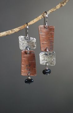 Asymmetrical Groove Earrings by MaggieJs on Etsy https://www.etsy.com/listing/116865961/asymmetrical-groove-earrings