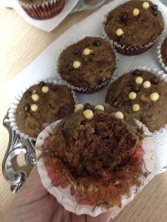 Muffin de Banana com açúcar mascavo e chocolate