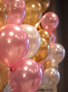 Cheap party party party, Buy Quality party pink directly from China party ballon pink Suppliers: Pearl balloons 10 Inch Thick g Birthday Ballons Decorations Wedding Ballons Pink White Purple Globos Party Wholesale Pink Gold Party, Pink And Gold Birthday Party, Golden Birthday, Girl First Birthday, Baby Birthday, First Birthday Parties, First Birthdays, 30th Birthday Ideas For Girls, 16th Birthday