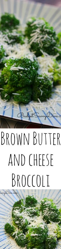 Brown Butter and Cheese Broccoli Recipe - perfect side dish done in under 20 minutes. Naturally Gluten Free