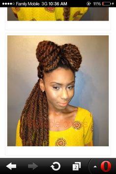 Long Marley twist , light brown