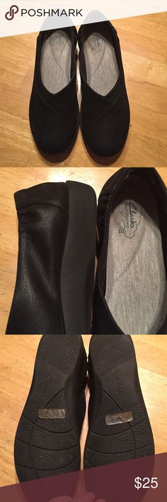 Clarks Cloud Steppers size 9 Beautiful and comfy Clarks Cloud Steppers size 9M.  With the exception of the logo inside these show virtually no signs of wear!!!  Beautiful shoes and super soft insoles!  Non smoking home and fast shipper!!! Clarks Shoes Flats & Loafers