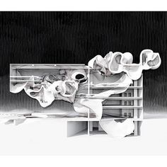 "Dwayne Oyler, Architect: Another from the midterm of my ""Ghostly"" vertical studio at SCI-Arc. This is the work of Jiahe Lu ..."