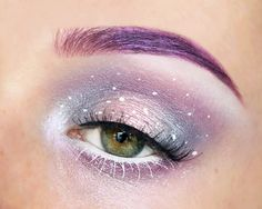Inspired by pastelcolors and the galaxy  (But to be honest, this look reminds me of easter eggs as well. ) ♡ USED PRODUCTS ♡ • NYX jumbo eye pencil - milk • inglot eyeshadows - 163, 164 & 165 • makeup geek eyeshadows - masquerade, carnival & phantom • NYX liquid liner - white • the body shop glitter eyeliner - silver • ardell demi wispies