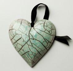 Ceramic Heart With Ribbon €25 - Julian Smith Ceramics