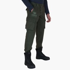 #sportswear #peacekeeper - Mens #pants - Military green. Winter cotton pants, military style with classic cargo pockets.