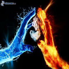 L'eau et le feu main dans la main