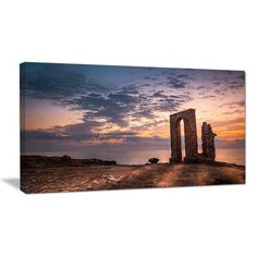 """DesignArt Historic African Ruins at Sunset Photographic Print on Wrapped Canvas Size: 16"""" H x 32"""" W x 1"""" D"""