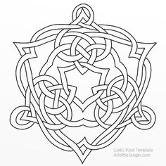 Art of the Tangle - A Zentangle ® Studio – Here are some of my Celtic Knot templates ready for tangling, coloring, embellishing, or whatever you might want to do Mandala Coloring, Colouring Pages, Coloring Books, Celtic Symbols, Celtic Art, Celtic Knots, Islamic Patterns, Celtic Patterns, Free Flower Clipart