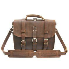 Vintage leather briefcase 16,5· bolsos de hombre ruavintage maletines de...