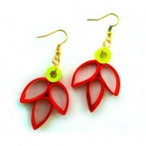 Red Three Leafer Buy now at low price http://www.ramanamam.com/ohooshopping/fashion-earrings-?product_id=75