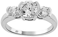 1.51 Carat Brita Diamond 14Kt White Gold Engagement Ring