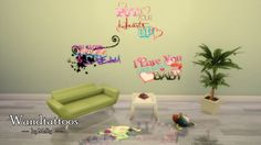 Sims Houses by Melly: Wandtattoos / Walltattoos