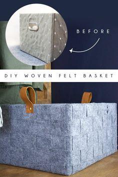DIY Woven Felt Baske