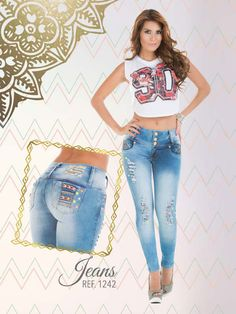 Jeans #colombianos #levantacola. Cute Outfits With jeans. #pushup. #catalogo…